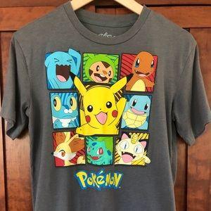 Pokémon kids L T-shirt with multiple characters
